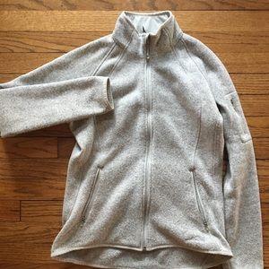 Eddie Bauer Zip up fleece heather gray outdoor-zy